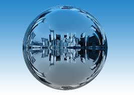 ville dans la bulle eau